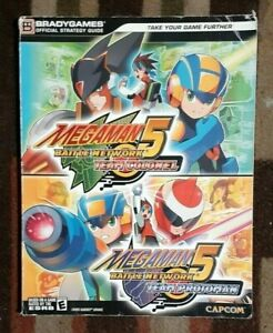 Megaman 5 Battle Network Team Colonel & Team Protoman Bradygames Strategy Guide