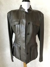GUCCI GREEN LEATHER  JACKET BLAZER SHIRT TOP GORGEOUS $8500