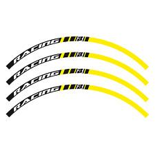 adesivi grafiche moto per cerchi in Crystal Blackbird cross enduro giallo suzuki