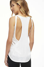 NWT Fabletics BACK TRACK TEE Fashion Workout Yoga Awesome Back Detail -Sold Out!