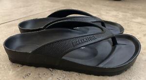 New Birkenstock Honolulu Black Eva Flip Flops Slip On Sandals Womens EUR 37 US 6