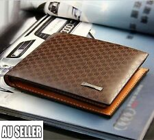 Men's Leather Wallet Pocket Card Clutch ID Credit Bifold Purse Fashion New