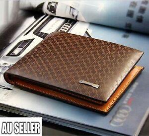 Men's Leather Wallet Pocket Card Clutch ID Credit Bifold Purse Fashion New