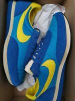 Nike Elite VNTG Ocean Blue Chrome Yellow AJ2565 400 Size 11 Uk New Waffle...