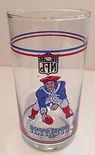 New England Patriots Football NFL Mobil Glass Tumbler/s 1980s