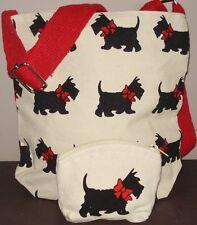 Westie Dog Print Bag and Matching Purse - Jute Bag