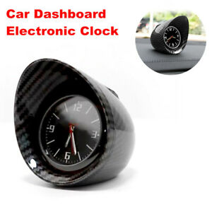 Carbon Fiber Electronic Car Interior Dashboard Clock w/ Auto Luminous Backlight