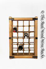 New Real Wooden Rustic Wine Rack / Cabinet, 24 Bottles with Table Top