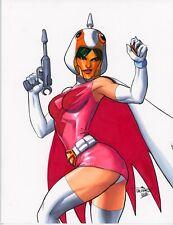 Sexy Princess Battle of the Planets Gatchaman G-Force Ninja Original art