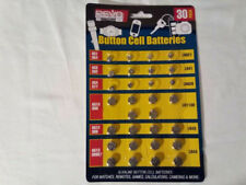 Lot of 30 New Mixed LR621 LR41 LR626 LR1130 LR43 LR 44 1.5V Alkaline Batteries