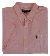 US Polo ASSN Patch Pocket Pony Short Sleeves Textured Classic Dress Shirt XXL