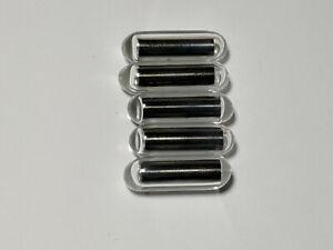 5 Pack of Glass Stir Bars / Glass Encapsulated Magnetic Stir Bars (high temp)