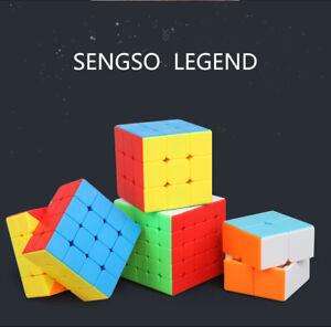 2X2 3X3 4X4 5X5 No Sticker Magic Puzzle Cube Rubix Super Smooth Fast Speed Cube