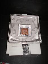 """Kosta Boda Domino by Bertil Vallien New in Box  """"Dad"""" dish"""