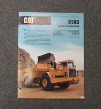 Cat Caterpillar D30D Articulated Dump Truck Dealer's Brochure Manual 1989