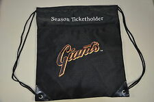 SAN FRANCISCO SF GIANTS WORLD CHAMPIONS DRAWSTRING BAG-SEASON TICKET HOLDER GIFT