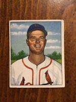 1950 BOWMAN BASEBALL card ~~~ #89 GEORGE MUNGER ~~~ ST LOUIS CARDINALS