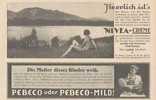 Y4865 Zahnpasta PEBECO - NIVEA Creme - Pubblicità d'epoca - 1927 Old advertising