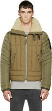 DIESEL W-FRANKIE KHAKI QUILTED JACKET SIZE M 100% AUTHENTIC