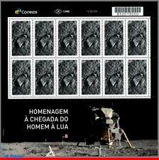 13 BRAZIL 2019 TRIBUTE TO LUNAR LANDING MISSION, MOON, SPACE,APOLLO 11,SHEET MNH