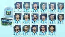 2014 PANINI FIFA BRAZIL WORLD CUP TEAM ARGENTINA SET OF 19 STICKERS - MESSI!