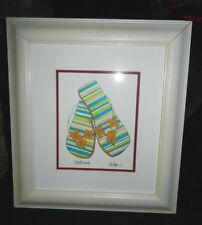 "Jennifer Goldberger ""Flower Child"" Woman's Flip Flops Sandals Framed Litho Print"