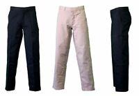 NEW Men's Straight Chino Pants Work Pants Trousers 100% Cotton Black Khaki
