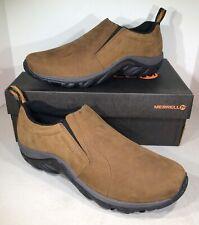 Merrell Jungle Moc Men's Size 12M Brown Nubuck Slip On Shoes X4-829