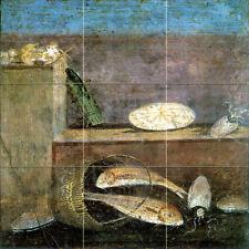 Tumbled Marble Mural Art Ancient Pompeii Tile #239