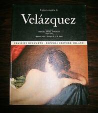L'OPERA COMPLETA DI VELÀZQUEZ# Rizzoli Editore 1969 #1A Ed.#I Classici Dell'Arte