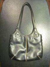 black modern tan stitch cross thread sturdy purse by CHATEAU