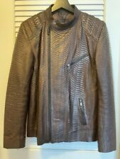 Dormeuil rare Brown motorcycle Python Balmain jacket extremely beautiful size M