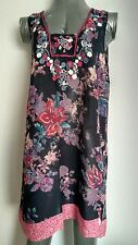 MONSOON embroidered floral beach dress size M --MINT-- perfect for Holidays