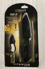 CAMILLUS SPECIAL EDITION TITANIUM BONDED TAC-2 KNIFE SET WITH SHEATH New