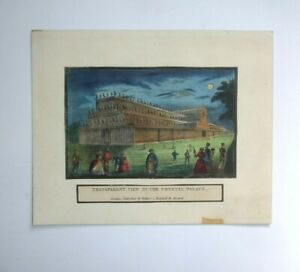 19th century print TRANSPARENT VIEW of the CRYSTAL PALACE Vickers Holywell Stree