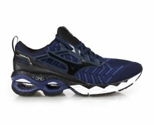 MIZUNO Wave Creation 20 Knit Men's Running (Size 11.5) Blue / Black J1GC193309
