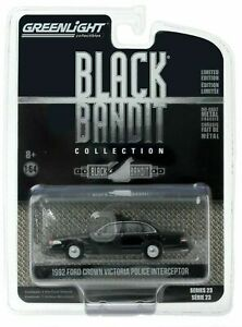 1/64 Greenlight 1992 Ford Crown Victoria Police Black Bandit Collection Neuf