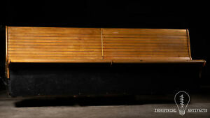 Vintage Maple Bowling Alley Bench