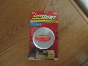 Waxman 3 1/2 Inch Reusable Carpet Super Sliders with Non-Stick Gripper Pad
