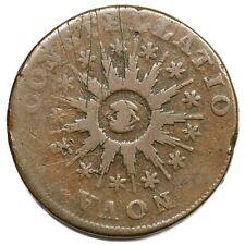 1785 5-E R-4 Lg Date Pointed Rays Nova Constellatio Colonial Copper Coin