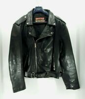 1💎Real Leather Chaqueta/Abrigo (46) Hombre Aviador De Cuero Marca Estilo Motero