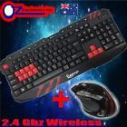 Mezumi 2.4G Wireless Gaming keyboard and Mouse Set Bundle Computer PC Multimedia