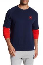 Converse All Star Sweatshirt Mens M (medium)  layered-look Sleeves 2 Tone NEW