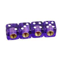 """DIC-PP-2PK Trik Topz /""""Dice/"""" Schrader Valve Stem Caps 2 Purple"""