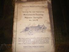 McCormick Deering Manure Spreader No. 200-H Operators Manual