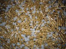GOLD LEAF FLAKES IN 100 GLASS VIALS NO LIQUID -  L@@K!!