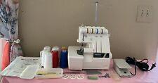 Vintage Toyota 6700 3/4 Thread Overlock Serger Sewing Machine Lots Of Extras EC!