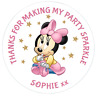 48 Personalised Party Bag Stickers Minnie Mouse Sweet Bag Seals 40mm Labels