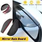 New Black Car Rear View Side Mirror Rain Board Eyebrow Guard Sun Visor Decor Kit