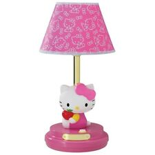 HELLO KITTY PINK DECORATIVE TABLE LAMP KIDS BEDROOM BEDSIDE GIRL GIRLS NEW